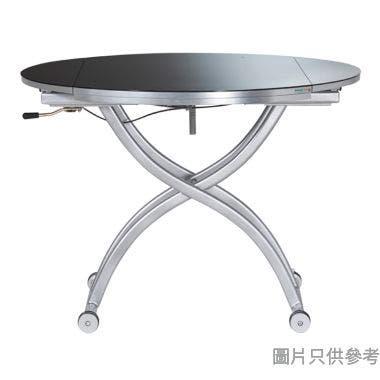 BACCHUS-1 升降開合強化玻璃餐檯1050W x 690/1050D x 425-740Hmm - 黑色