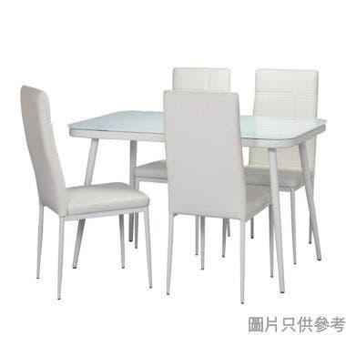 HAN DT-3301+DC-222 強化玻璃餐檯配四椅1200W x 700D x 755Hmm