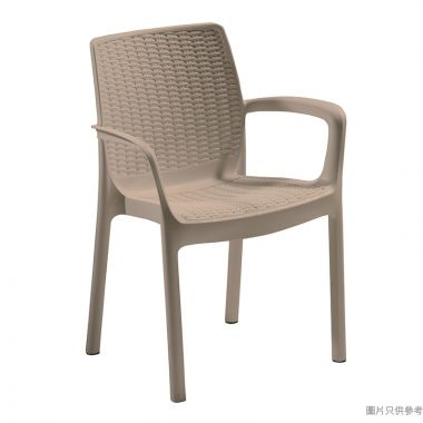 KETER Bali Mono 防曬戶外塑膠扶手椅 - 淺啡色
