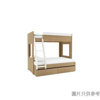 MODI KB-753648 雙層床配兩櫃桶(面向計左面梯)1060/1350W x 1880Dmm