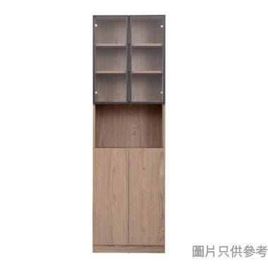 ARCUS BK-C-2414 雙門書櫃連玻璃門600W x 350D x 1965Hmm