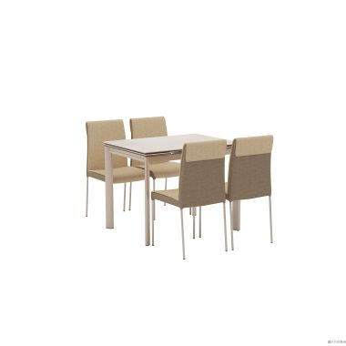 BUWEN DT-6810 + DC-801 陶瓷玻璃開合餐檯連四椅965/1425W x 710D x 760Hmm