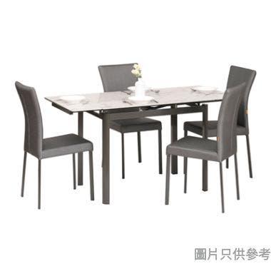 MARMOR-1 DT-6830 陶瓷玻璃開合餐檯 965/1425W x 710D x 760Hmm連四椅
