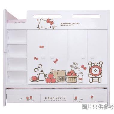 Sanrio CTD-WB01 多功能組合床(七櫃桶,子床及衣櫃) - Hello Kitty-A (面向計左面梯)
