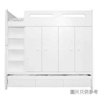 CTD-WB01W(L) 多功能組合床(七櫃桶, 子床及衣櫃)(面向計左面梯)975W x 1892D x 1785Hmm
