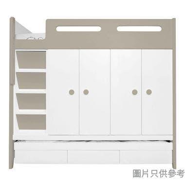 CTD-WB01(L) 多功能組合床(七櫃桶, 子床及衣櫃)(面向計左面梯)