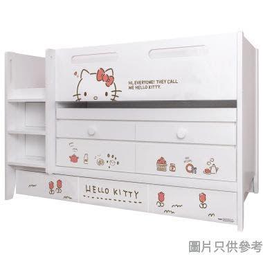 Sanrio CTD-TB02 多功能組合床(書檯,子床及六櫃桶) - Hello Kitty-A (面向計左樓梯)