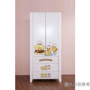 Sanrio CTD-WB0236 36吋雙門三櫃桶衣櫃  布甸狗-A