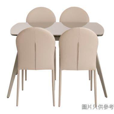 ALLY ITB-DT107T+ISD-DT62C強化玻璃伸展1檯+四椅