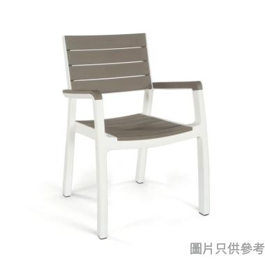 HARMONY KT-17201284仿木椅 - 白+淺灰(2425)