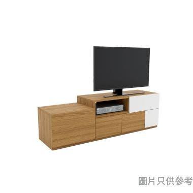 TETRIZ DB-V-1500Y 五櫃桶伸縮電視地櫃1500-2000W x 418D x 460Hmm - 胡桃色配米白色