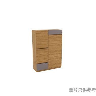 TETRIZ DB-S-910G 鞋櫃連椅910W x 350D x 1300Hmm - 胡桃色配淺灰色