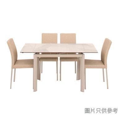 BUWEN-II DT-6810+DC-625 陶瓷玻璃開合餐檯連四椅965/1425W x 710D x 760Hmm