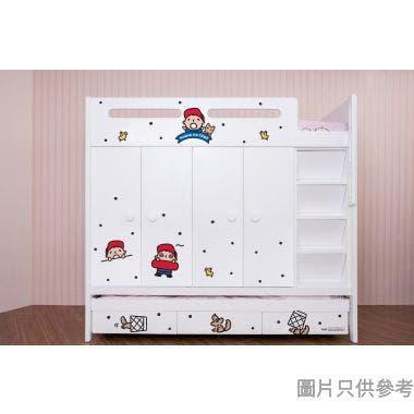 Sanrio CTD-WB01 多功能組合床(七櫃桶,子床及衣櫃) 大口仔-A  (面向計右面梯)