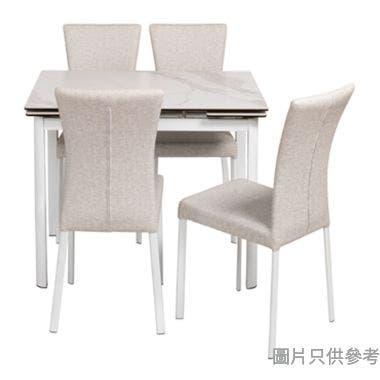 MARMOR-2 DT-6830(MJ-008) 陶瓷玻璃開合餐檯965/1425W x 710D x 760Hmm連四椅