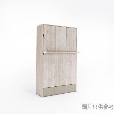 Transformer2.0 TFII-SOFA-D 變形直反雙人床連儲物櫃 1356W x 500Dmm- 木紋色配啡灰色