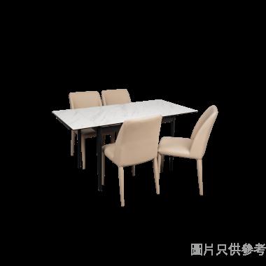 PIZA+LUGA意大利陶瓷玻璃開合長方餐檯配四椅