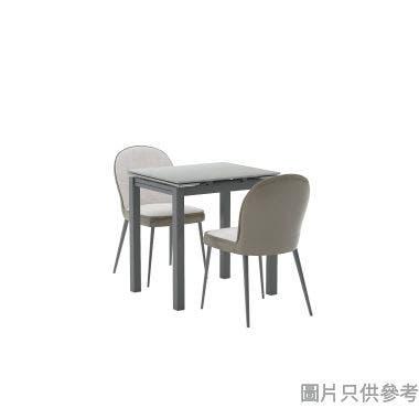 LUNA 6071 + 1083岩板開合餐檯連兩椅1010W x 600D x 751Hmm-炭灰色