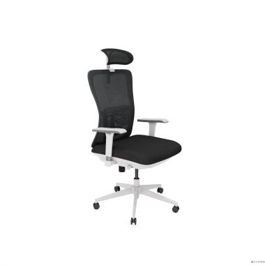OTIS SS-Z-K5-BLK 人體工學扶手轉椅640W x 570-620D x 1090-2071Hmm-黑色配灰色