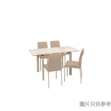BUWEN-III DT-6810+DC-801 陶瓷玻璃開合餐檯連四椅965/1425W x 710D x 760Hmm