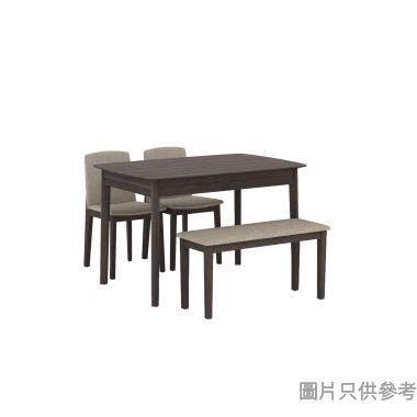 TESS TE-T-3247+TE-C-08+TE-C-11 餐檯配兩木椅及長餐椅1200W x 800D x 750Hmm