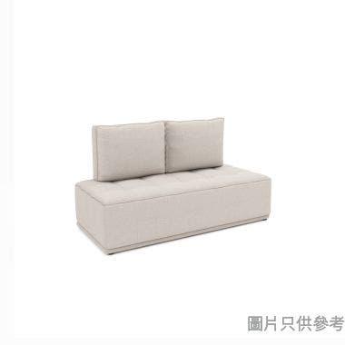 CHITTI卓蒂 ELIAS AX-1605A 兩座位儲物布藝變形梳化(換購品) 1580W x 740D x 390Hmm - 淺灰杏色(換購品)