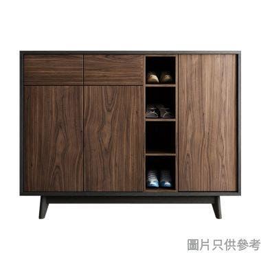 LODGE ESBC03 三門兩櫃桶鞋櫃1389W x 378D x 1059Hmm -  胡桃色