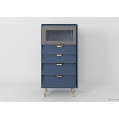 ALEC ESZFL-BG-04A 四櫃桶儲物櫃599W x 399D x 1186Hmm - 藍色/灰色