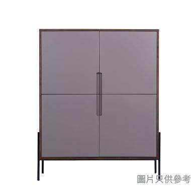 GRIZZ ASH-H-4555W 四門飯廳櫃1140W x 400D x 1400Hmm - 胡桃色/淺灰色