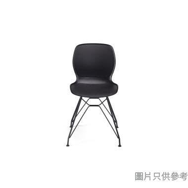 LA-15NB 膠座板鐵腳餐椅490W x 490D x 830Hmm - 黑色