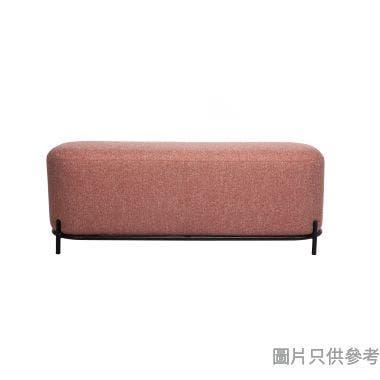 SOFA-03-40120 布藝長椅1240W x 440D x 460Hmm - 珊瑚色