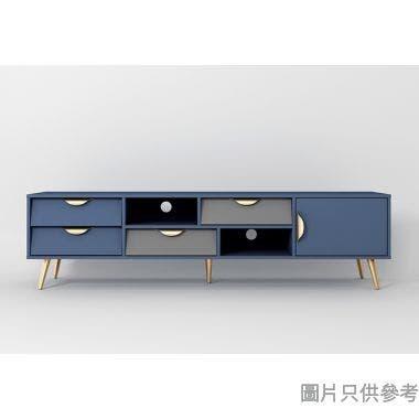 ALEC ESZFL-DSG-04-180B 四櫃桶電視地櫃1803W x 399D x 470Hmm -  藍色/灰色