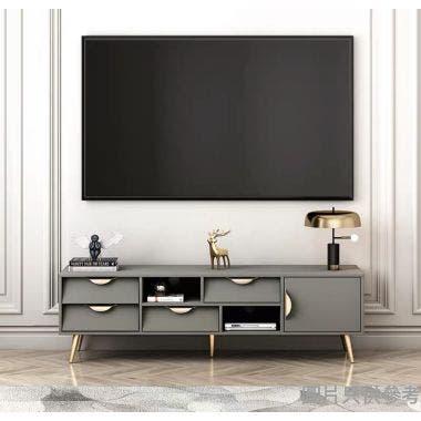 ALEC ESZFL-DSG-04-160G 四櫃桶電視地櫃1600W x 399D x 470Hmm - 灰色
