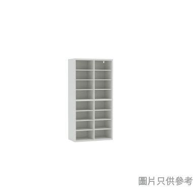 Wallcube 四門高身儲物櫃框800W x 418D x 1600Hmm - 白色皮紋