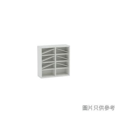Wallcube 薄身雙門儲物櫃框800W x 280D x 800Hmm - 白色皮紋