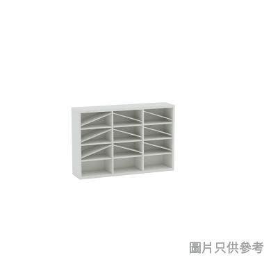 Wallcube 薄身三門儲物櫃框1200W x 280D x 800Hmm - 白色皮紋