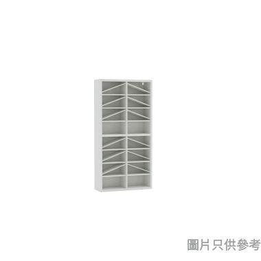 Wallcube 薄身四門高身儲物櫃框800W x 280D x 1600Hmm - 白色皮紋