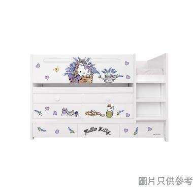 Sanrio CTD-TB02 多功能組合床(書檯,子床及六櫃桶) - Hello Kitty-B (面向計右樓梯)