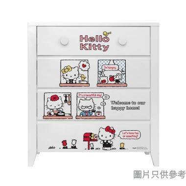Sanrio CTD-CH01 四桶儲物櫃 Hello Kitty-C