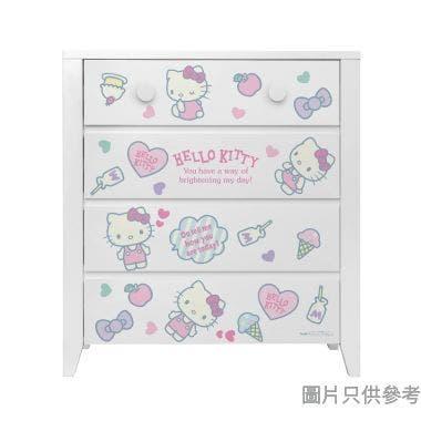 Sanrio CTD-CH01 四桶儲物櫃 Hello Kitty-D