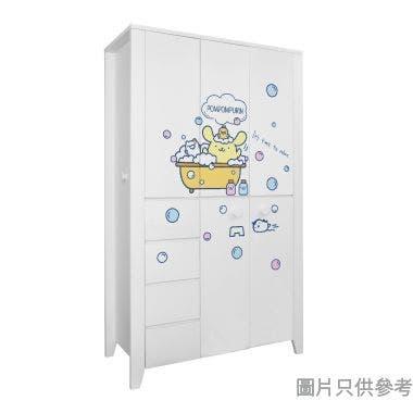 Sanrio CTD-WB0147 47吋五門四櫃桶衣櫃 布甸狗-C