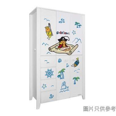 Sanrio CTD-WB0147 47吋五門四櫃桶衣櫃 蛋黃哥-B