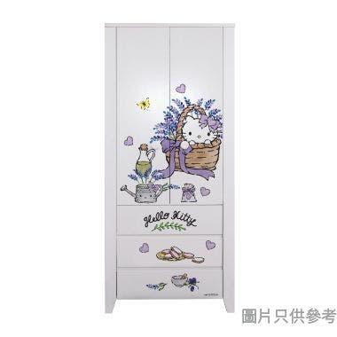 Sanrio CTD-WB0236 36吋雙門三櫃桶衣櫃  Hello Kitty-B