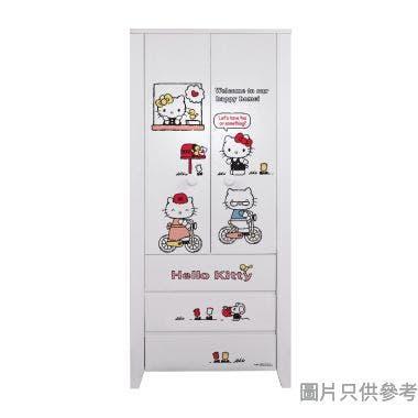 Sanrio CTD-WB0236 36吋雙門三櫃桶衣櫃  Hello Kitty-C
