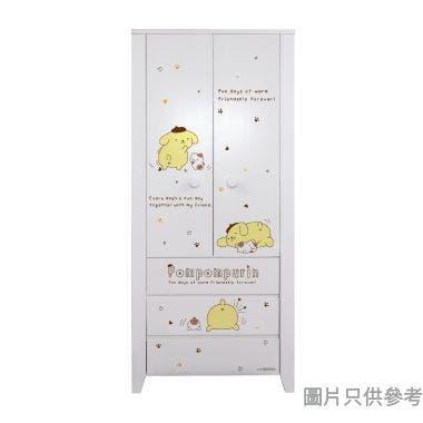 Sanrio CTD-WB0236 36吋雙門三櫃桶衣櫃  布甸狗-B