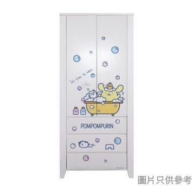 Sanrio CTD-WB0236 36吋雙門三櫃桶衣櫃  布甸狗-C