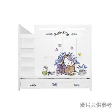 Sanrio CTD-WB01 多功能組合床(七櫃桶,子床及衣櫃) - Hello Kitty-B (面向計左面梯)