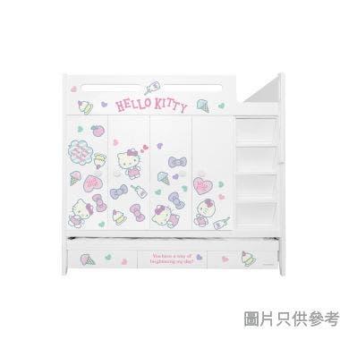 Sanrio CTD-WB01 多功能組合床(七櫃桶,子床及衣櫃) - Hello Kitty-D (面向計右面梯)