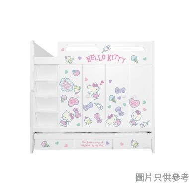 Sanrio CTD-WB01 多功能組合床(七櫃桶,子床及衣櫃) - Hello Kitty-D (面向計左面梯)