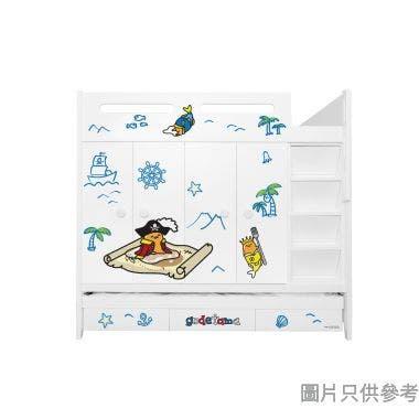 Sanrio CTD-WB01 多功能組合床(七櫃桶,子床及衣櫃) 蛋黃哥-B  (面向計右面梯)